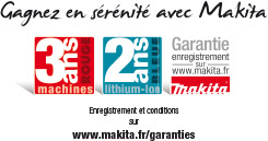 Garantie outillage Makita