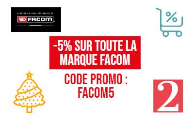 Offre Facom : 5% de remise sur tous les articles