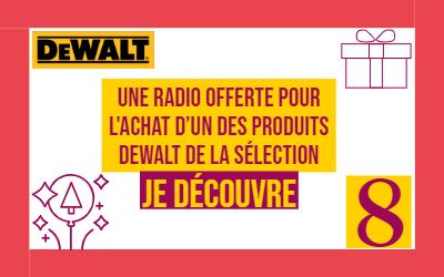 Avent 8 : une radio DeWalt offerte