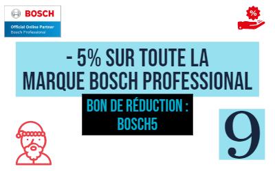 Jour 9 : -5% sur tous les produits Bosch Pro